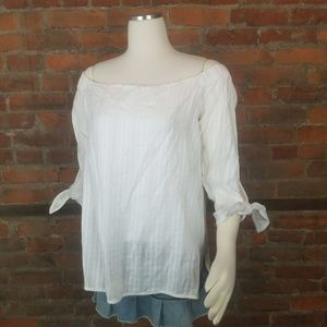 Bailey 44 Womens Top White Off the Shoulder